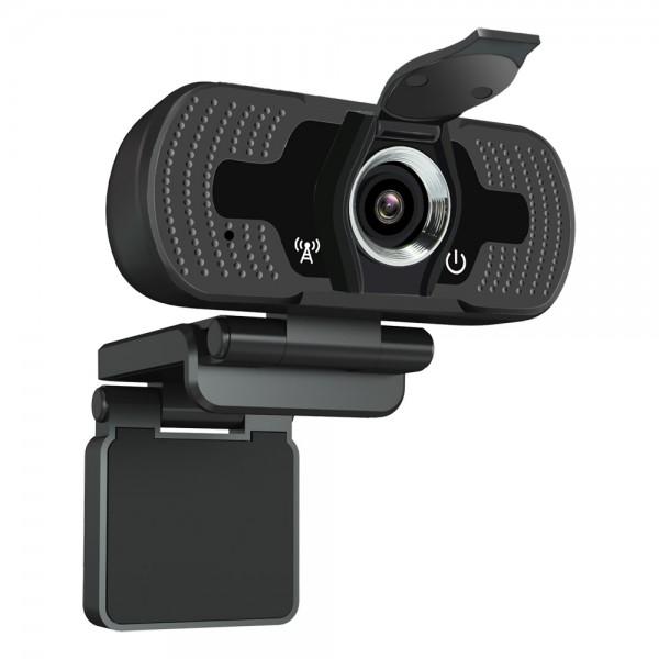 Full HD Уеб камера Xmart F22, 1080p, Plug&Play, Трипод, Капак за поверителност