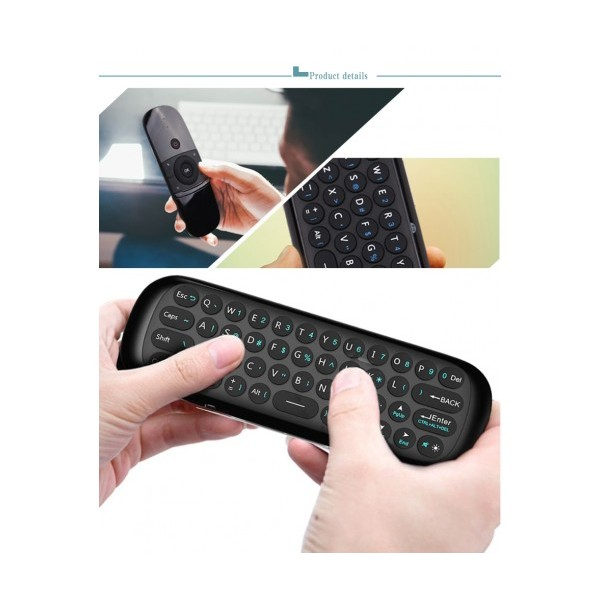 Въздушно дистанционно управление Air Mouse W1, Жироскоп, Клавиатура