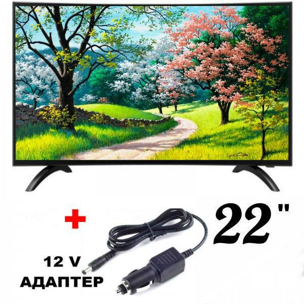Телевизор Crown 22J230 FHD, ЦИФРОВ ТУНЕР, 12 ВОЛТА, 22ИНЧА