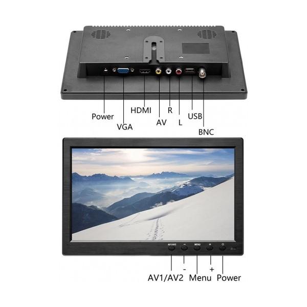 10.1 LED Монитор Smart Technology M10, AV вход, HDMI вход, VGA ход, Дистанционно, DVD плейър