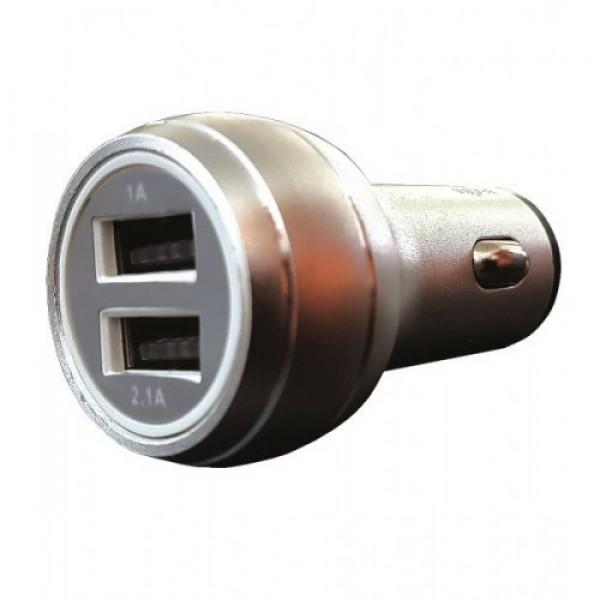 ЗАРЯДНО УСТРОЙСТВО USB ЗА КОЛА/КАМИОН 12V-24V 2.1A