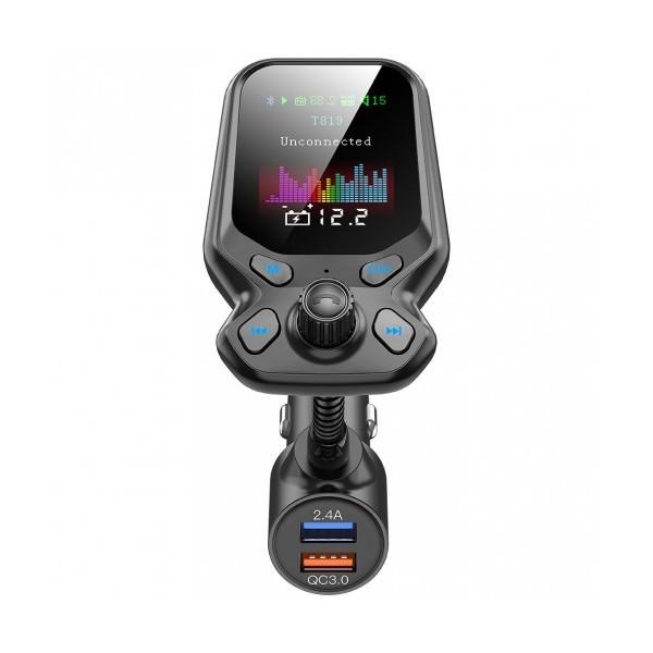 Автомобилен трансмитер Car Kit T819, Bluetooth, USB зарядно, TFT цветен дисплей