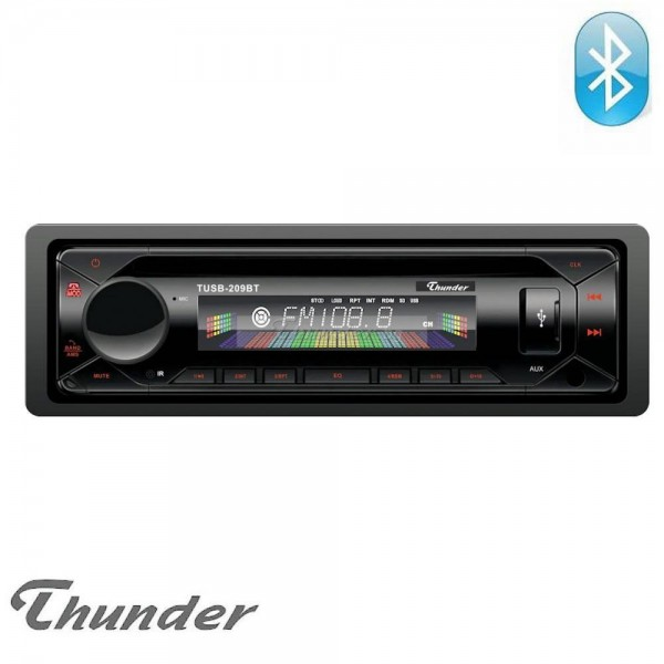 Авто Радио Thunder TUSB-209BT, Bluetooth, USB, SD, AUX, Свалящ се панел, FM радио