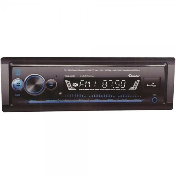 Авто Радио THUNDER TUSB-310BT, Bluetooth, USB / SD / AUX / FM радио, RDS, падащ панел, дистанционно, 4x45W