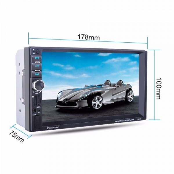 Универсален Двоен Дин с радио, GPS Навигация, MP3, USB, SD карта, Bluetooth 7021A BT GPS