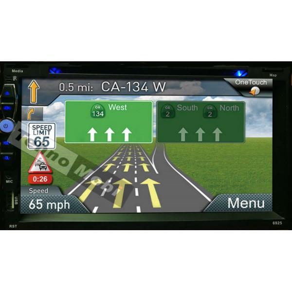 Универсален Двоен Дин с Android, Wi-fi, радио, GPS Навигация, MP3, USB, SD карта, Bluetooth A6925