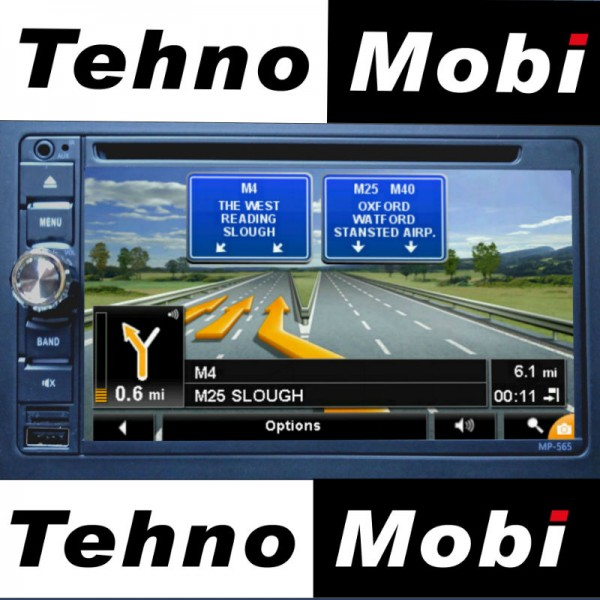 Double Din MP-565, Bluetooth, DVD, GPS навигация, MP3, USB, SD карта