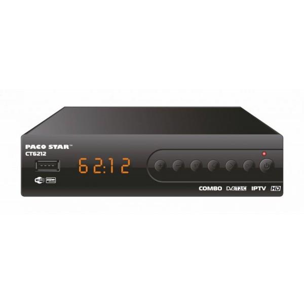 Цифров HD приемник Paco Star CT6212 Combo, комбиниран за Кабелна, Ефирна, IPTV телевизии