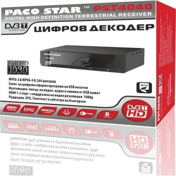 ПРИЕМНИК ЗА ЦИФРОВА ЕФИРНА ТЕЛЕВИЗИЯ FULL HD PACOSTAR PST-4040