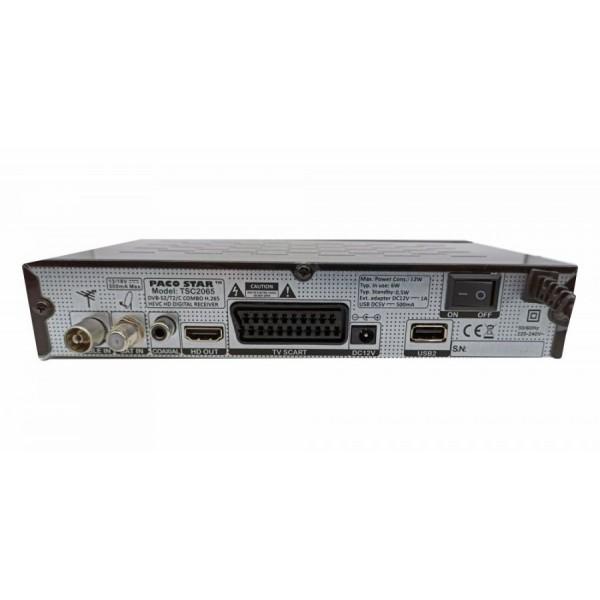 Цифров приемник с карточетец PACOSTAR TSC2065 DVB-S2/T2/C, IPTV HEVC