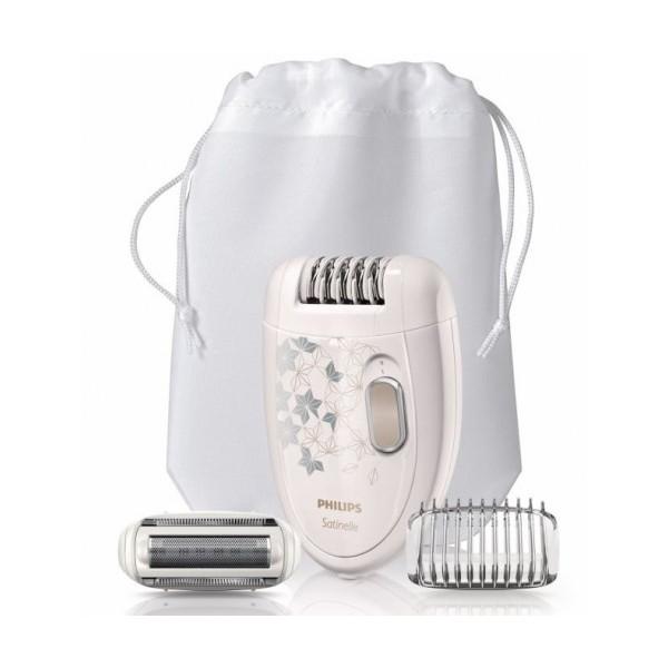 Епилатор Philips Satinelle HP6423/00 за крака и тяло, с бръснеща глава