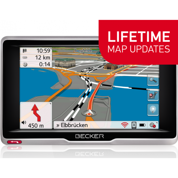 GPS НАВИГАЦИЯ BECKER PROFESSIONAL 5 LIFETIME MAPS EU