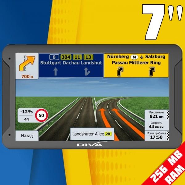 GPS НАВИГАЦИЯ DIVA 7020, 7 ИНЧА, 256 MB RAM