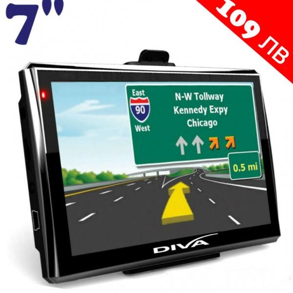 GPS НАВИГАЦИЯ DIVA 715S EU, 7 ИНЧА, 4GB