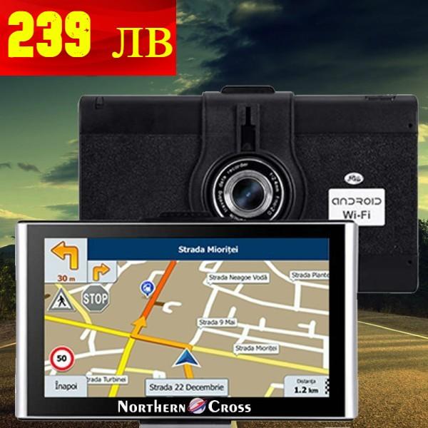 GPS НАВИГАЦИЯ NORTHERN CROSS NC-Q7A CAM, 7 ИНЧА, ВИДЕОРЕГИСТРАТОР, ANDROID, WI-FI