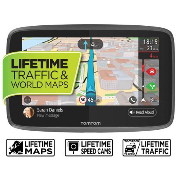 GPS НАВИГАЦИЯ TOMTOM GO 6200 WORLD LM С ДОЖИВОТНА АКТУАЛИЗАЦИЯ ЗА ЦЯЛ СВЯТ И WI-FI