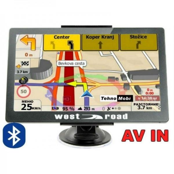GPS НАВИГАЦИЯ WEST ROAD WR-S5256M BT AV IN EU 800 MHZ 256 RAM 8GB