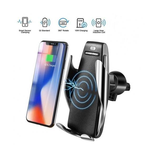 Универсална стойка за автомобил с безжично зареждане и автоматично затваряне S5