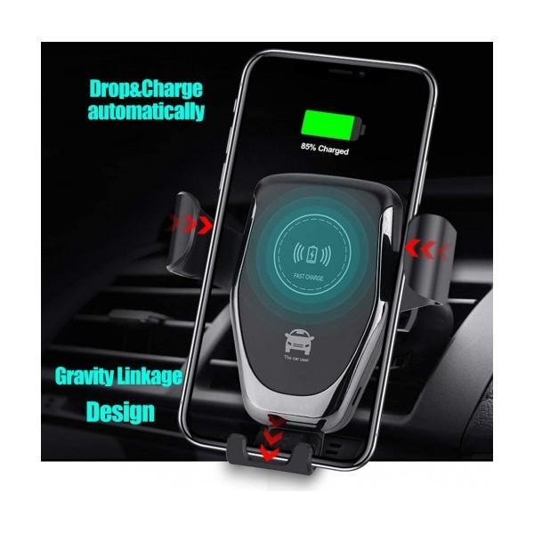 Универсална стойка за автомобил с безжично зареждане Wireless Mount Charger