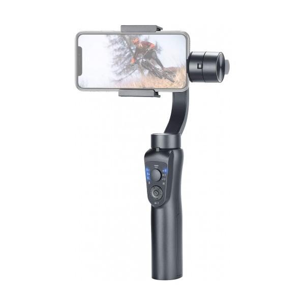 Ръчен стабилизатор за телефон Stabilized Gimbal S5B, Контрол на увеличението, Авто проследяване, 2 USB начина за зареждане