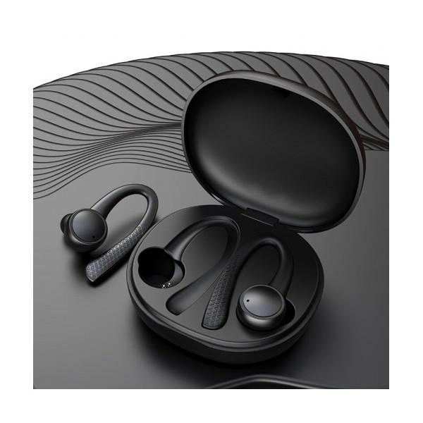 Безжични слушалки за спорт с микрофон Sporty Pods FB-T7 Pro, Bluetooth, Черен