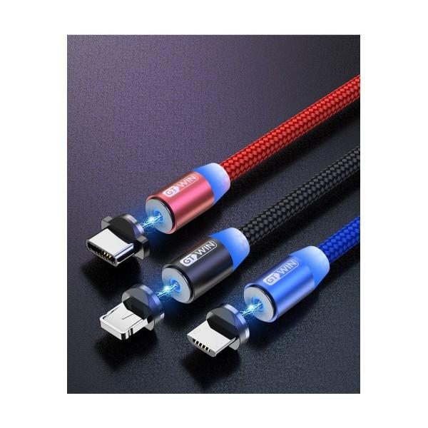 Ново! Магнитен Type C USB кабел за зареждане на телефони, 2.4А