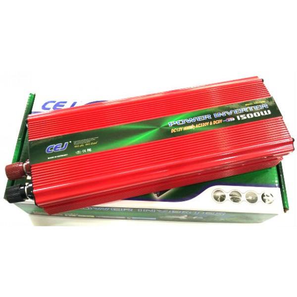 Висококачествен Инвертор на напрежение CEJ 12V или 24V - 220V 1500W