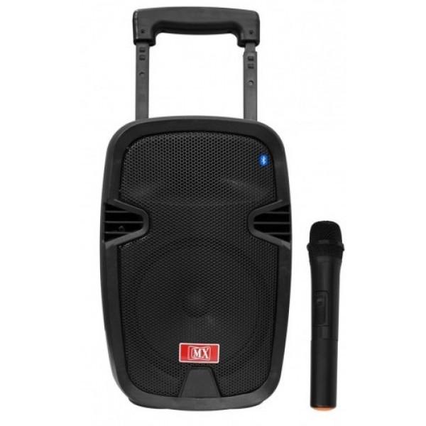 Тонколона с вграден акумулатор, МП3 плейър от SD карта и флашка, Блутут и безжичен микрофон за караоке Avcrowns M16