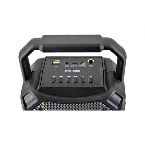 Преносима HiFi караоке тонколона със светлинни ефекти Portable Bluetooth Speaker KTS-996