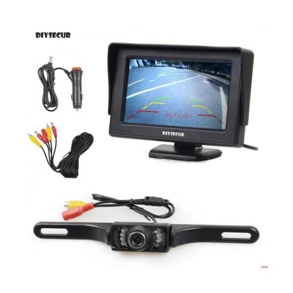 Безжичен комплект за задно виждане Smart Technology Back Rearview Cam 2, 4.3 монитор, Безжична камера