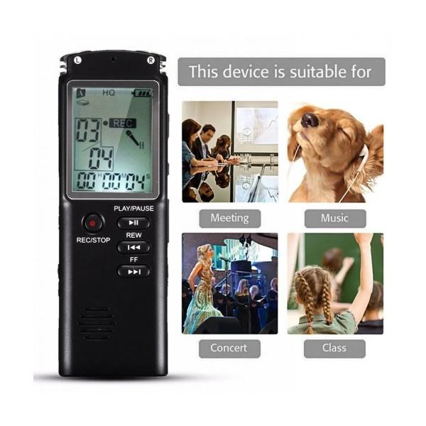Професионален Диктофон Smart Technology T60, 8GB, Репортерски