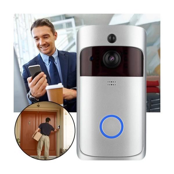 Смарт звънец домофон Smart Technology WiFi DoorBell, Интерком, Връзка със смартфон, Нощно виждане, Детектор за движение