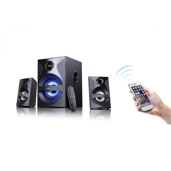 Буфер Bluetooth Тонколони 2.1 Fenda F&D F380X, 54 RMS (2x13W + 28W), Led подсветка, USB