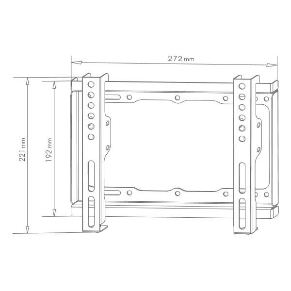 Стойка за телевизор Xmart 1743SF – Фиксирана