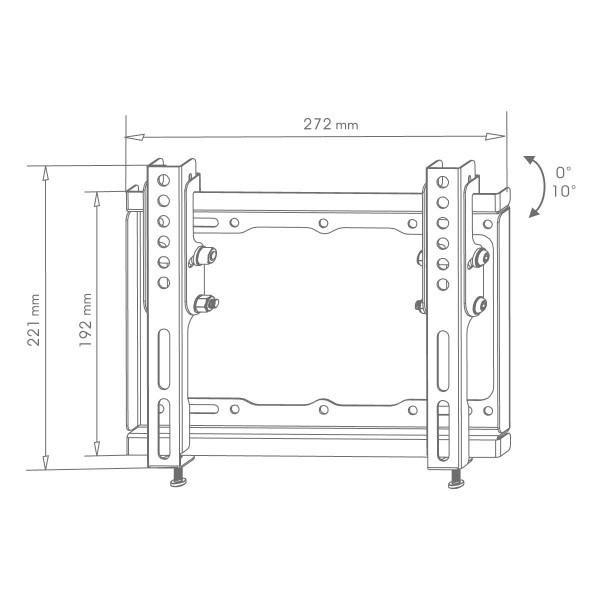 Стойка за телевизор Xmart 1743ST – Накланяща се