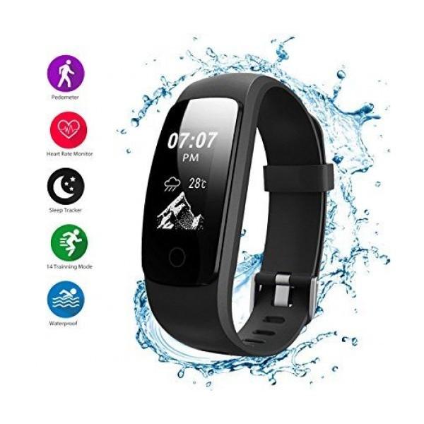 Смарт гривна Smart technology H107, Пулс, Кръвно налягане, влагоустойчива