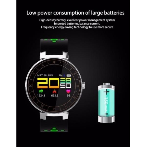 Влагоустойчива смарт гривна Smart technology L8, Пулс, Кръвно налягане