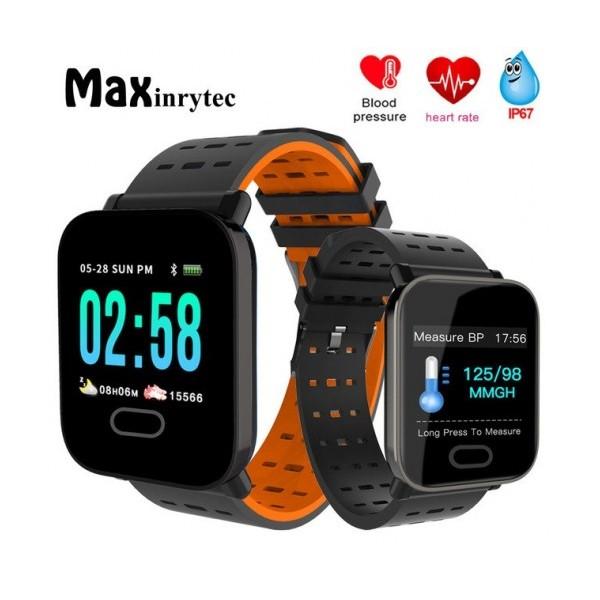 Смарт гривна Smart technology А6, Пулс, Кръвно налягане, влагоустойчива