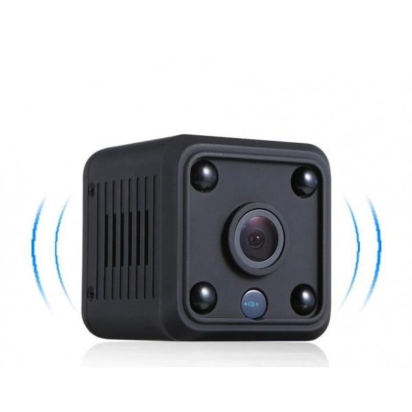 Мини камера Smart Technology IP Cam HD, WiFi, Нощно виждане, Детектор за движение, Черна