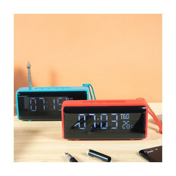 Преносима Bluetooth MP3 Колонка TG-174, Power Bank, Часовник