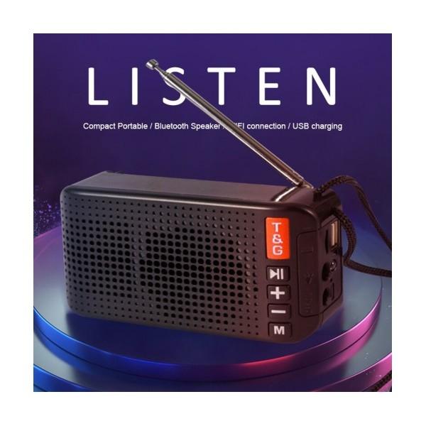 Преносима Bluetooth MP3 Колонка TG-184, Power Bank, Соларно зареждане