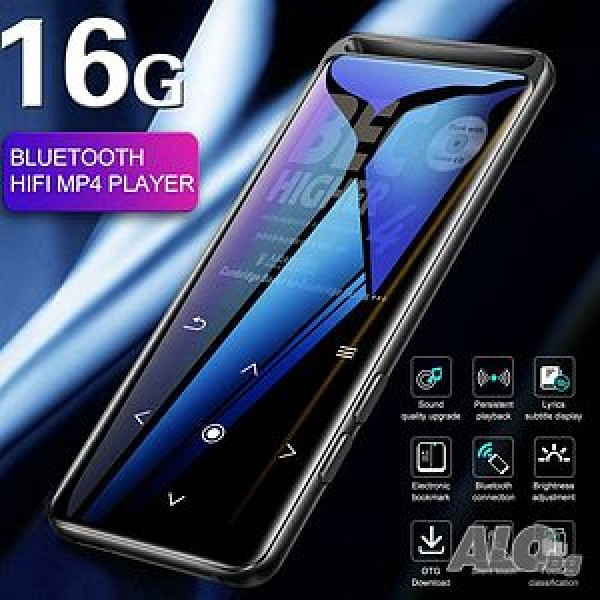 Преносим MP3, MP4 плеър Yescool X5, 16GB, Bluetooth